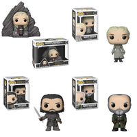 Funko Game of Thrones Pop - Series 8 Set of 3 & Daenerys on Dragonstone Throne - Pre-Order