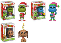 Set of 3 Funko Books Pop! - Dr Suess The Grinch - Santa Grinch, Santa Grinch Chase, and Max