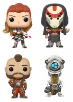 Set of 4 Funko Games Pop! - Horizon Zero Dawn - Eclipse Hunter, Aloy, Erend and Watcher- Pre-Order