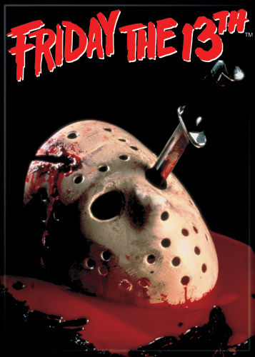 Magnet: Friday the 13th - Hockey Mask w/ Blood
