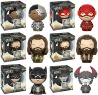 Set of 6 Funko Heroes Dorbz: Justice League - 5 Regulars + Chase