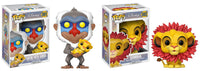 Set of 2 Funko Disney Pop! Lion King Rafiki with Simba & Simba (Leaf Mane)