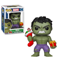 Funko Marvel Holiday Pop - Hulk w/ Stocking & Plush