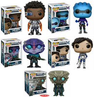 Set of 5 Funko Games Pops - Mass Effect Andromeda Sara Ryder, Liam Kosta, Peebee, Jaal, and The Archon<br> Pre-Order