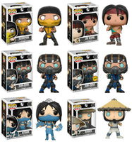 Set of 6 Funko Games Pop! - Mortal Kombat - 5 Regular Release and 1 Chase - Pre-Order