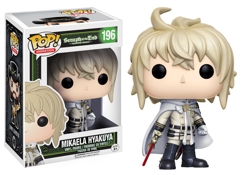 Funko Animation Pop! Seraph of the End Vampire Reign - Mikaela Hyakuya #196 - Videguy Collectibles