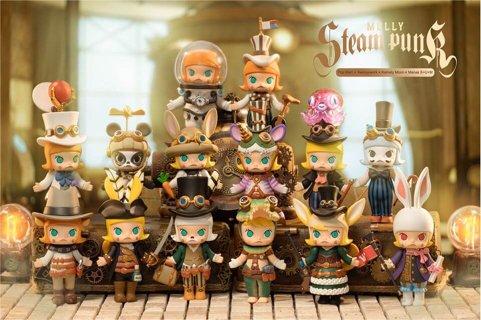 Pop Mart - Molly Steam Punk Blind Box - Sealed box of 12