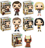 Set of 5 Parks and Recreation Funko Television Pop!s