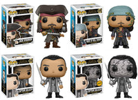 Set of 4 Funko Movies Pop! - Pirates of the Caribbean - 3 Regular Releases and 1 Chase