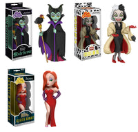 Set of 3 Funko Disney Rock Candy Vinyl Figures - Maleficent, Cruella De Vil and Jessica Rabbit - Pre-Order