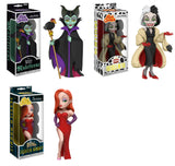 Set of 3 Funko Disney Rock Candy Vinyl Figures - Maleficent, Cruella De Vil and Jessica Rabbit