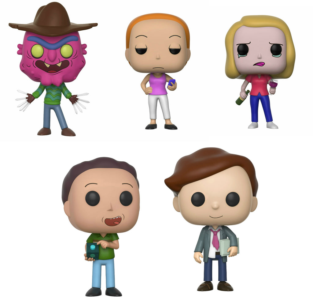 Set of 5 Funko Animation Pop! - All 5 Rick and Morty Series 3 Pops