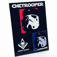 Chetrooper: Red, White & Blue Glow Edition Pin