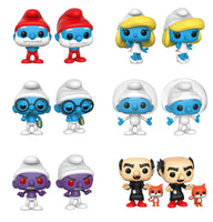 Set of 6 Funko Animation Pop!s - Smurfs - 5 Smurfs and Gargamel