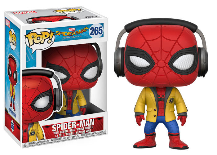 Funko Movies Pop! Spider-Man Homecoming Spiderman w/ Headphones