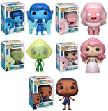 Set of 5 Funko Animation Pop! Steven Universe - Rose Quartz, Connie, Lion, Lapis, and Peridot - Videguy Collectibles