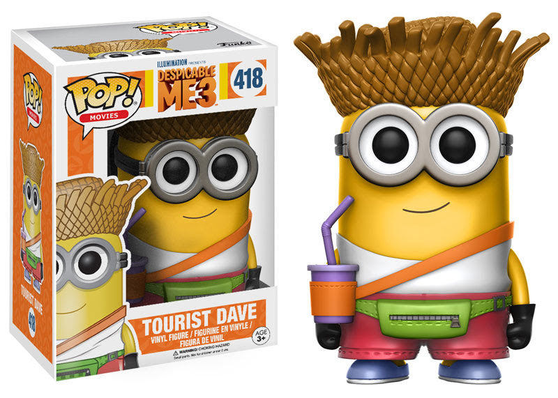 Funko Movies Pop! - Despicable Me 3 - Tourist Dave #418