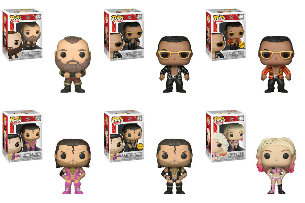 Set of 6 Funko WWE Pop! - WWE S6 All 4 w/ 2 Chase