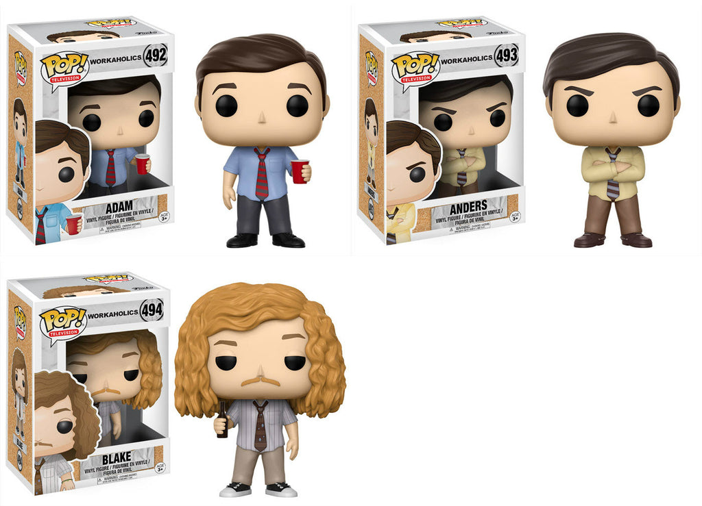 Set of 3 Funko Television Pop! - Workaholics - Adam, Anders, and Blake