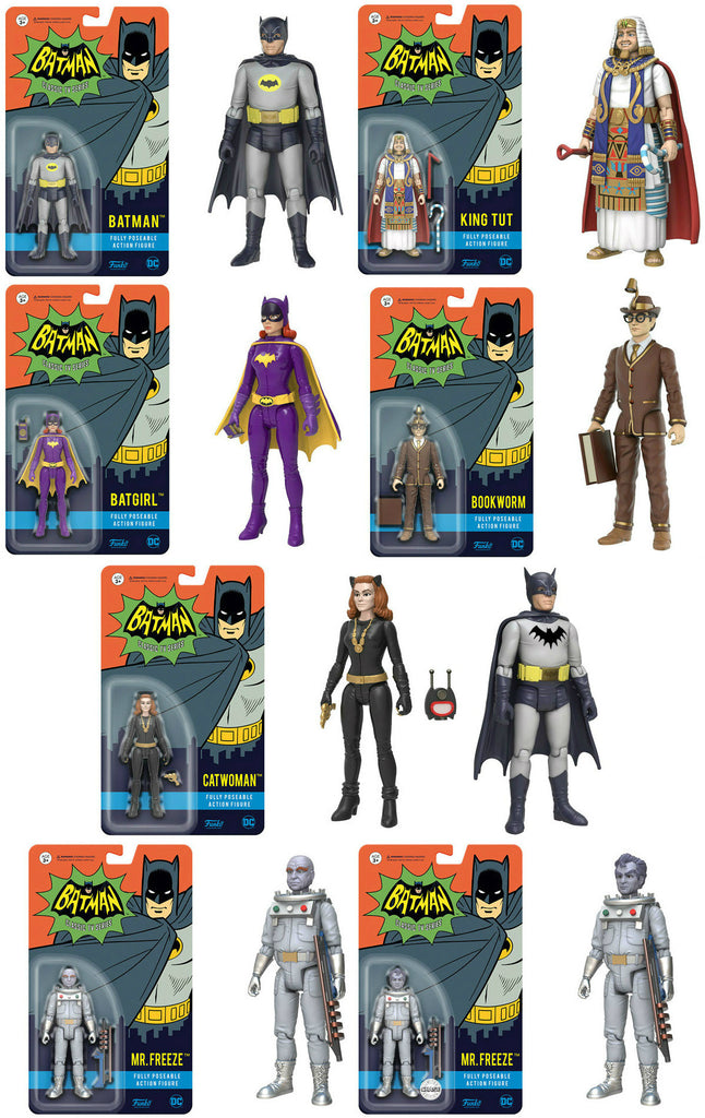 Set of 8 Funko Batman Classic TV Series Action Figures - 6 Common & 2 Chase