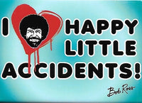 Magnet: Bob Ross - I Heart Happy Little Accidents