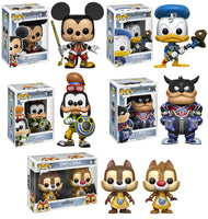 Set of 5 Funko Disney Pop! Kingdom Heart - Mickey, Donald, Goofy, Pete and Chip & Dale - Videguy Collectibles
