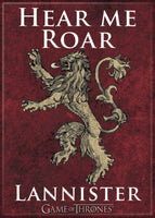 Magnet: Game of Thrones - House of Lannister Logo Hear Me Roar