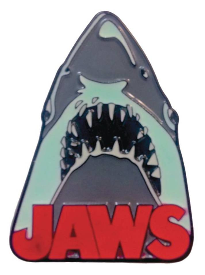 Classic Horror Enamel Pin - Jaws - GITD