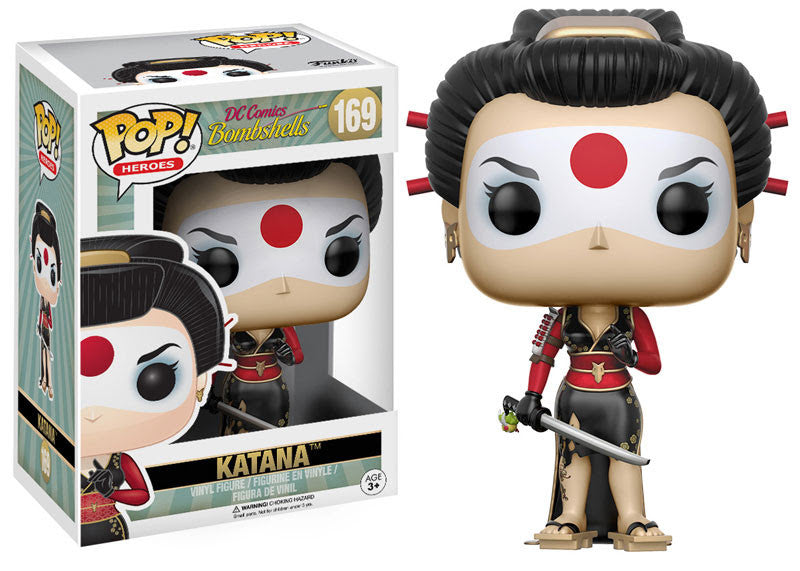 Funko Pop! DC Comics Bombshells - Katana #169 - Videguy Collectibles