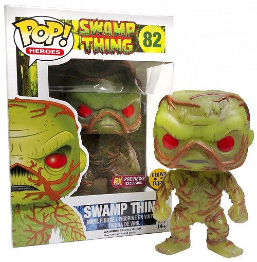 Funko Heroes Pop! Swamp Thing - Glow in the Dark Swamp Thing #82 - Previews Exclusive