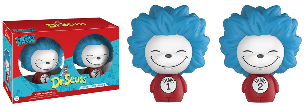 Funko Books Dorbz 2 Pack - Dr Suess - Thing 1 & Thing 2