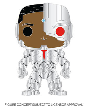 Funko Heroes Pop Pin - Cyborg