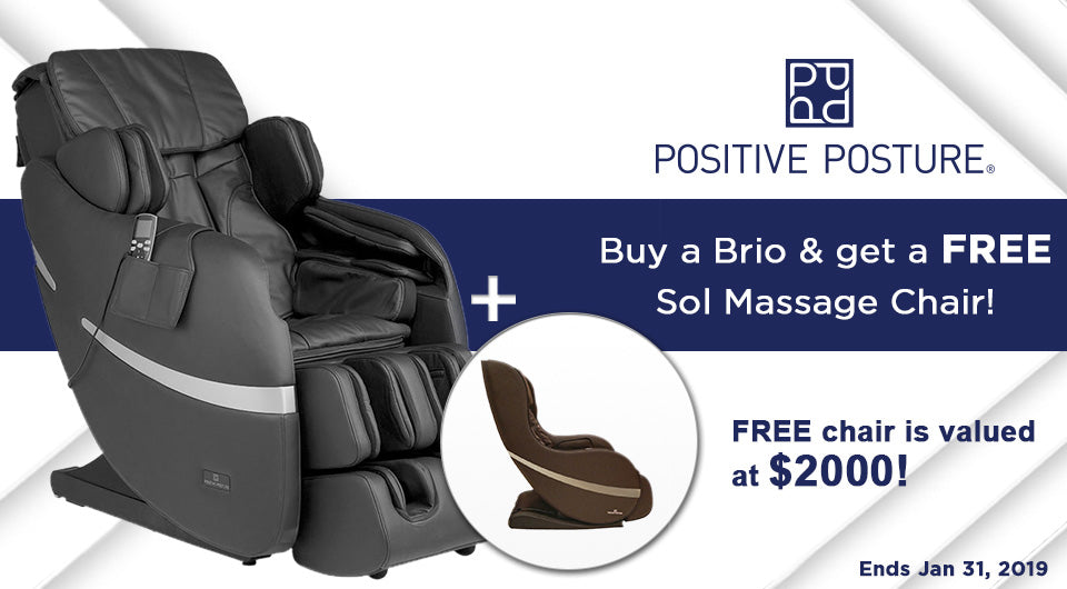 Buy a Brio & get a Sol Massage Chair Free!