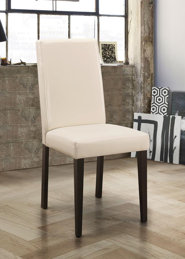 Coaster Dining Chairs and Bar Stools Contemporary Upholstered Dining Chair (2 pack)