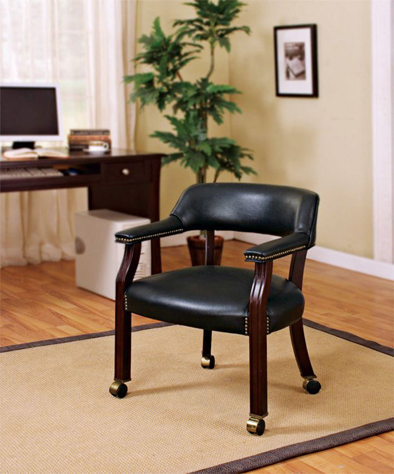 Coaster Office Chairs Traditional Upholstered Side Chair with Nailhead Trim