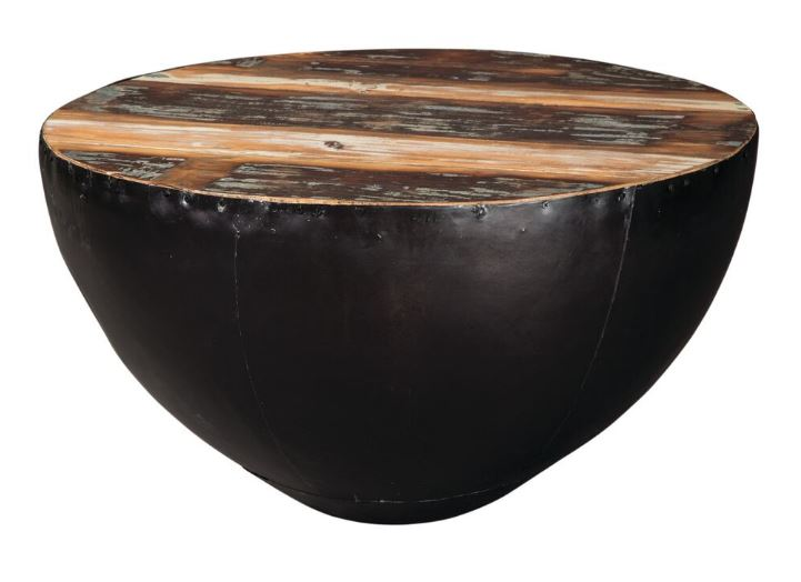 Coaster 70553 Coffee Table with Black Drum Base