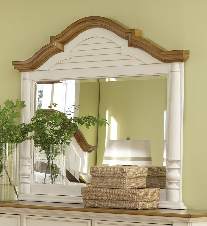Coaster Oleta Mirror with Arched Frame and Shutter Detail