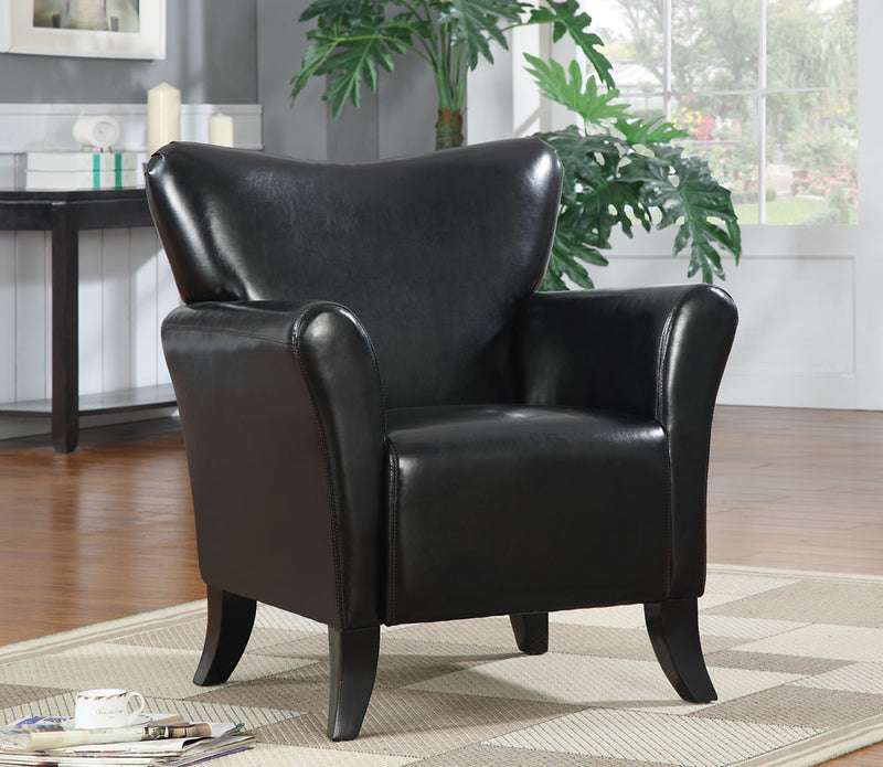 Coaster Accent Seating Contemporary Vinyl Upholstered Chair