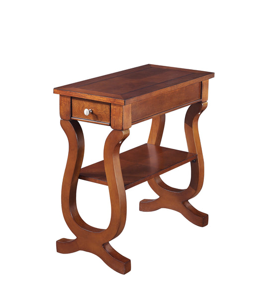 Coaster Accent Tables Cherry Rectangular Chairside Table
