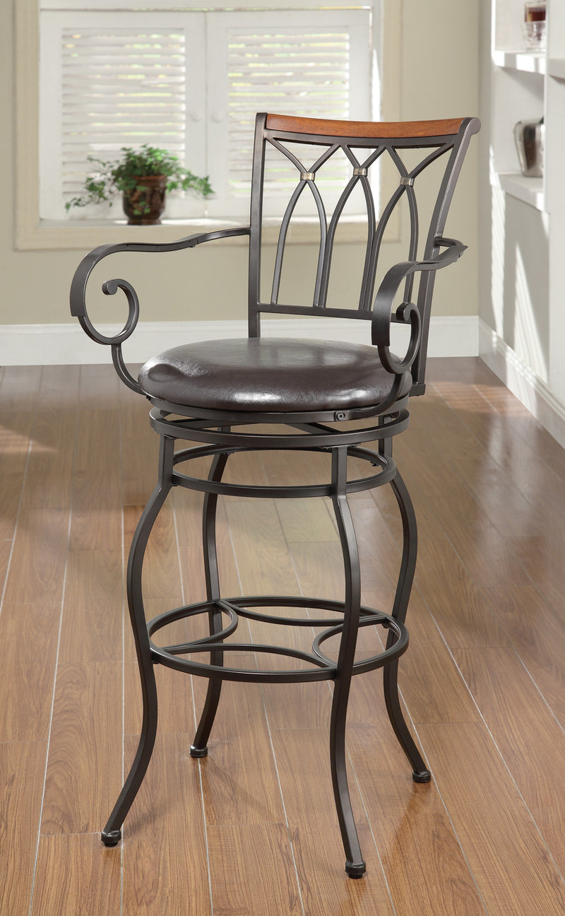 "Coaster Dining Chairs and Bar Stools 29"" Decorative Metal Barstool"
