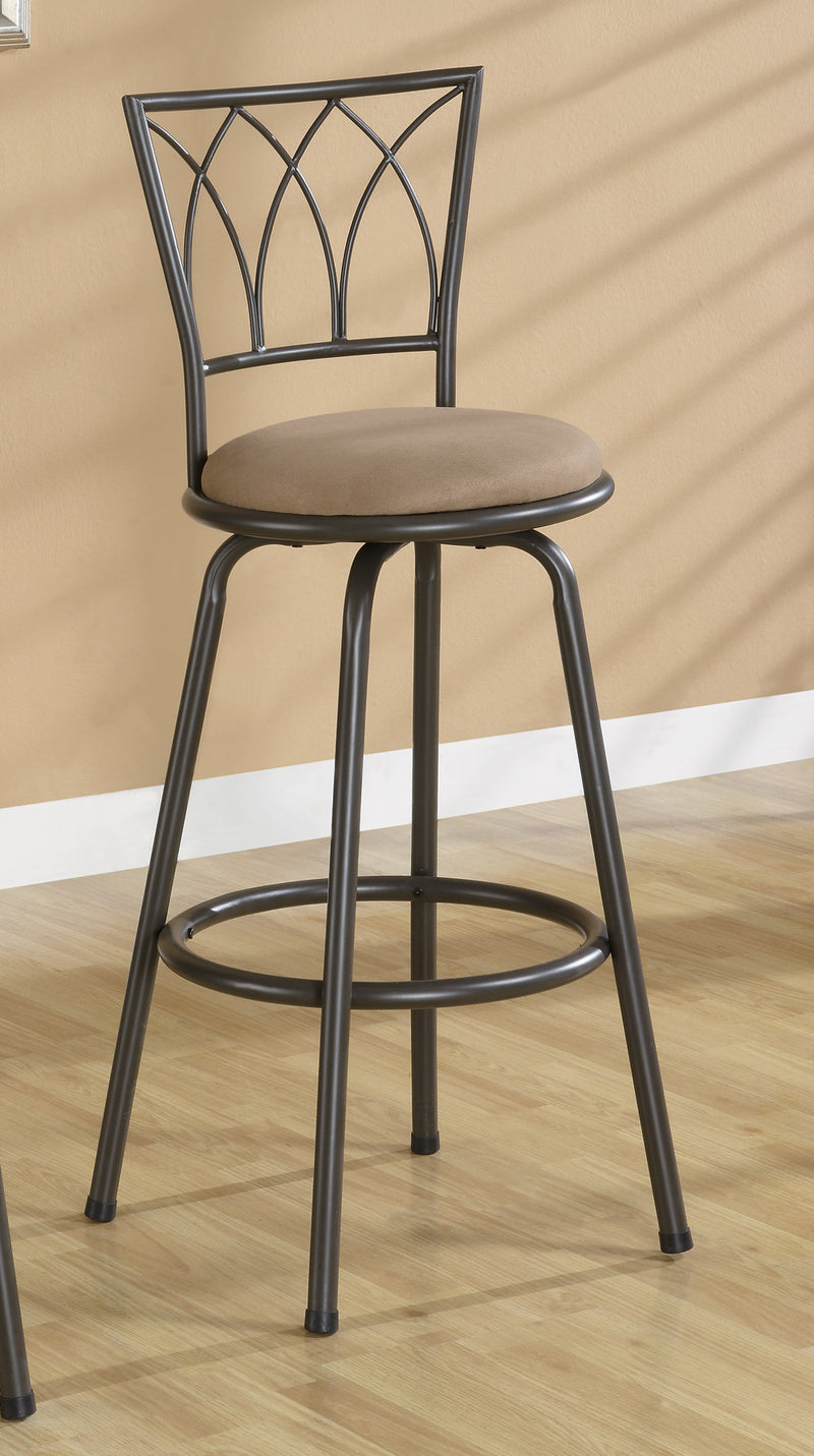 "Coaster Dining Chairs and Bar Stools 29"" Metal Bar Stool with Upholstered Seat"