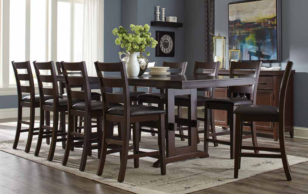 Coaster Holbrook Counter Height Table with Trestle Style Base