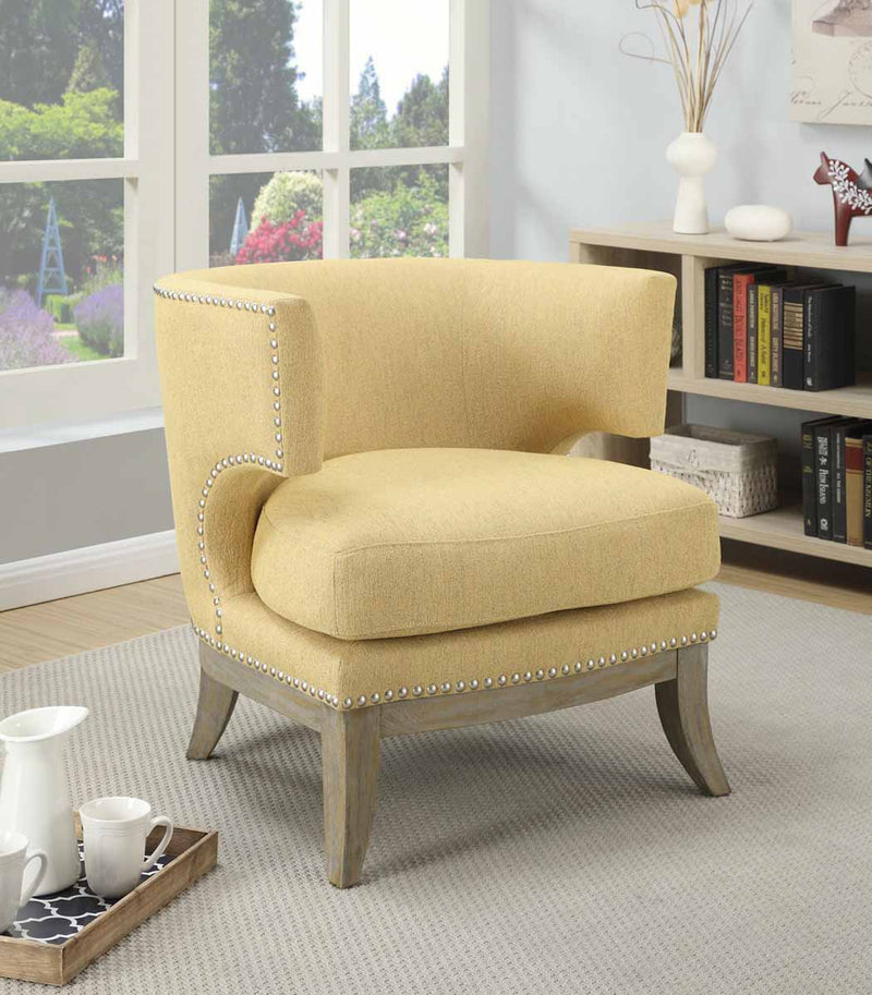 Coaster Accent Seating Barrel Back Upholstered Accent Chair