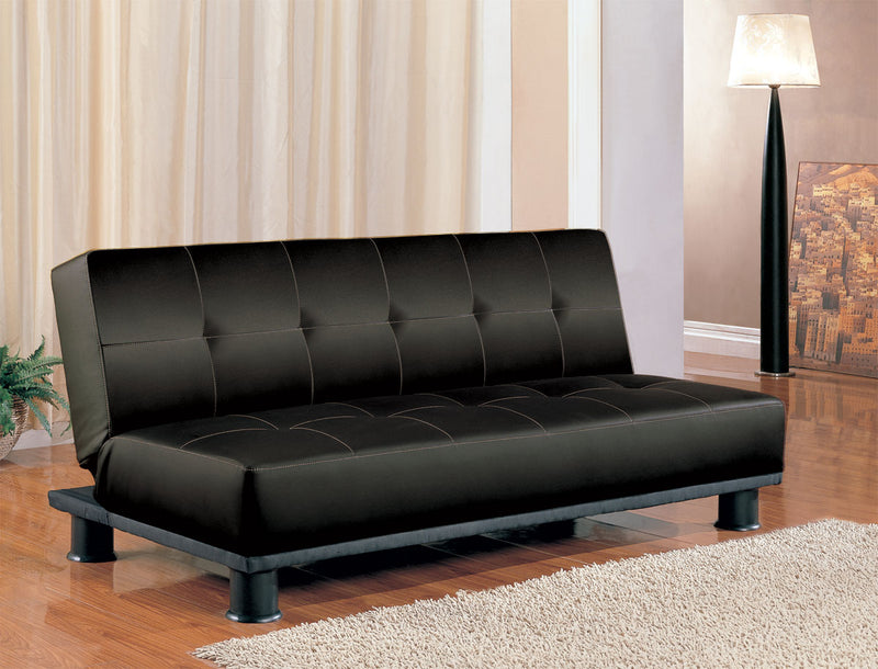 Coaster Sofa Beds and Futons Contemporary Armless Convertible Sofa Bed