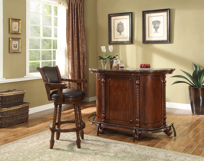 Coaster 100670 Traditional Bar Unit with Marble Top