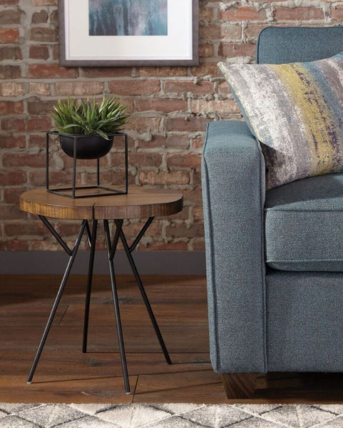 Coaster Tree Trunk Slab Accent Table with Metal Legs