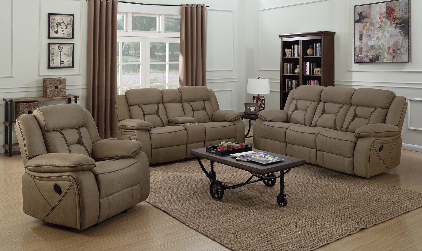 Terrific Coaster Houston Casual Pillow Padded Reclining Loveseat With Cupholder Storage Console Gmtry Best Dining Table And Chair Ideas Images Gmtryco