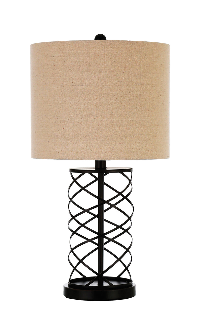 Coaster Table Lamps Table Lamp with Twisted Bronze Base