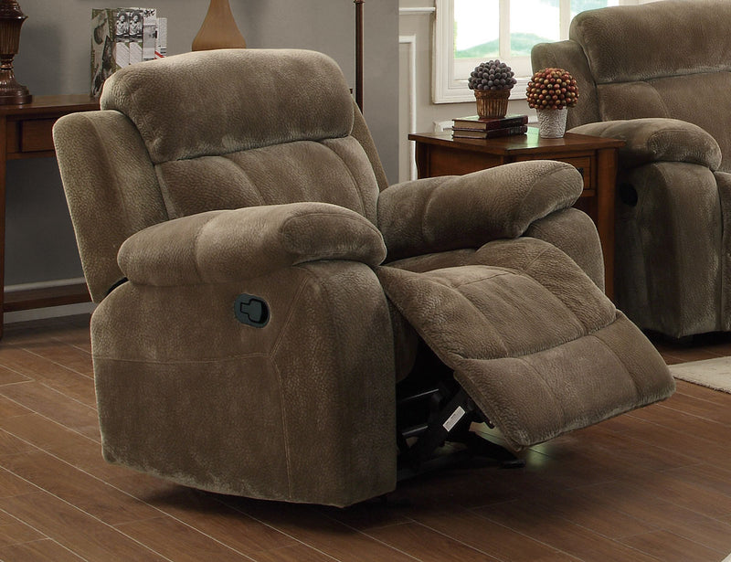 Coaster Myleene Glider Recliner w/ Pillow Arms