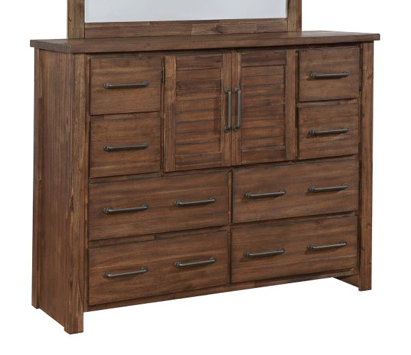 Coaster Sutter Creek Tall Dresser with 2 Doors & Wire Brushed Acacia Veneer